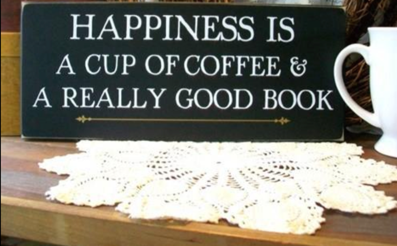 good Book and coffee